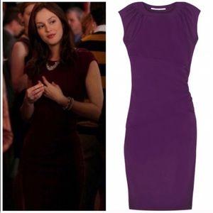 """Diane Von Furstenberg purple """"Thane"""" midi dress 4"""